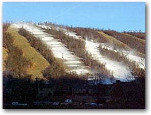 Pennsylvania's  Whitetail Resort has started making snow on Velvet, Snowpark,  Stalker, Limelight, and Upper and Lower Angel Drop. Expect an  opening date in the next few days.