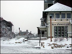 One of Snowshoe's newest restaurants, the Junction offers great food with a locomotive motif.