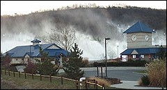Thanks to cold temperatures  and snowmaking, Pennsylvania's Liberty Mountain Resort was able  to grab a pre-December opening date.