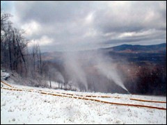 New York's Ski Windham began making snow at 9 p.m. on Tuesday.