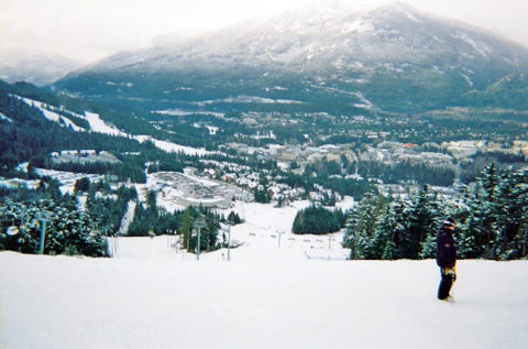 Whistler runs are to the lower left.
