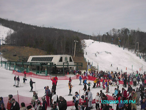 The Pennsylvania resort had been running the snowguns at full force for several nights.