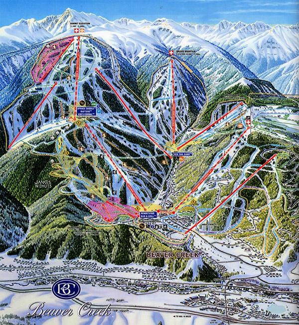 Firsthand Report Beaver Creek - Beaver creek ski trail map