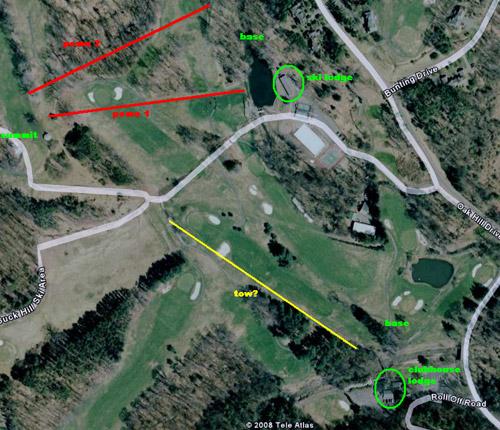 Lost Ski Area Profile: Buck Hill Family Ski Area Skytop Lodge Map on bedford springs resort map, pa map, bear peak trail map, snowshoe trail map, shawnee village resort map,